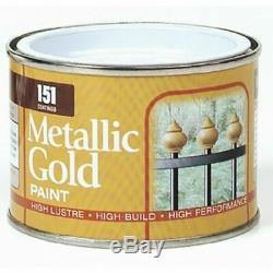 Gold Metallic PAINT Decorating Indoor Outdoor Top Coat Railings Gates Fences
