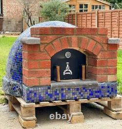 Handmade outdoor pizza oven fire bricks and face bricks, mosaic, diameter 70CM