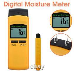 LCD Digital Moisture Detector Damp Meter Wood Brick Screed Caravan Tester Tool