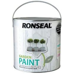 New 2.5L Ronseal Grey Exterior Garden Paint in Slate Grey for Wood Stone & Metal