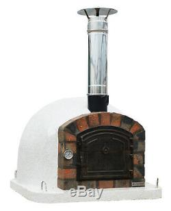 Outdoor Brick Wood Fired Pizza Oven 100cm Premier Full Insulated