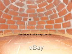 Outdoor Brick Wood Fired Pizza Oven 90cm Italian
