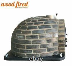 Outdoor wood fired Pizza oven 100cm Prestige blackend brick cast door + package