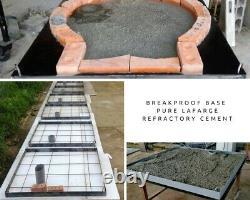 Outdoor wood fired Pizza oven 100cm brick red Pro deluxe rock face cast door