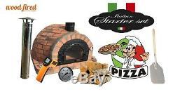 Outdoor wood fired Pizza oven 100cm comlpete brick, cast iron door, package