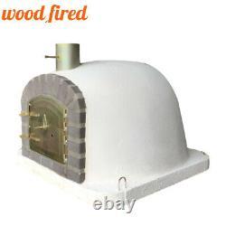Outdoor wood fired Pizza oven 100cm extra model grey brick/gold door