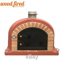 Outdoor wood fired Pizza oven 90cm brick red sovereign model