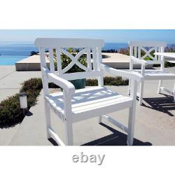 Patio Outdoor Lounge Chair 230 lb. Weight Capacity Stationary Weather Resistant