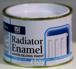 RADIATOR ENAMEL WHITE GLOSS PAINT Indoor Outdoor Top Coat Painting 180 ml
