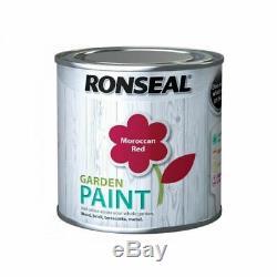 Ronseal Exterior Garden Paint 250ml For Wood Brick Terracotta Metal Outdoor