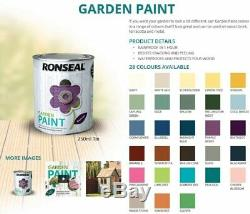 Ronseal Exterior Garden Paint For Outdoor Wood Metal Stone Brick 250ml