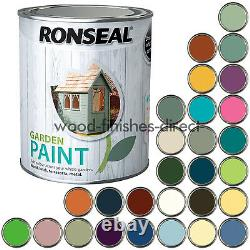 Ronseal Garden Paint Various Colours for Outdoor Exterior Wood 2.5L FREE DEL