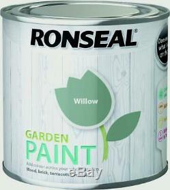 Ronseal Outdoor Garden Paint 250ml Finish-Ideal For Fench Wood/Brick/Metal Willo