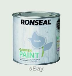 Ronseal Outdoor Garden Paint 250ml Ideal For Fence Wood/Brick/Metal Pebble