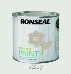 Ronseal Outdoor Garden Paint 250ml Ideal For Fence Wood/Brick/Metal Warm Stone