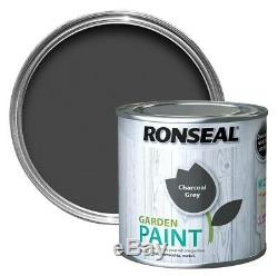 Ronseal Outdoor Garden Paint 2.5L Ideal For Fence Wood/Brick/Metal Charcoal Grey