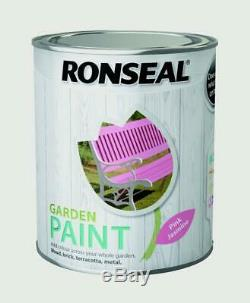 Ronseal Outdoor Garden Paint 2,5L Ideal For Fence Wood/Brick/Metal Pink Jasmine