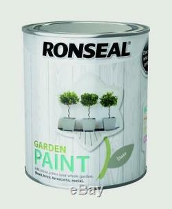 Ronseal Outdoor Garden Paint 750ml Finish-Ideal For Fench Wood/Brick/Metal Slate