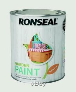 Ronseal Outdoor Garden Paint 750ml For Exterior Wood Metal Stone Brick Free P&P