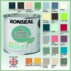 Ronseal Outdoor Garden Paint All Colours Exterior Wood Metal Stone Brick