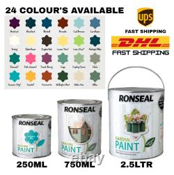 Ronseal Outdoor Garden Paint For Exterior Wood Metal Brick All Colours / Sizes
