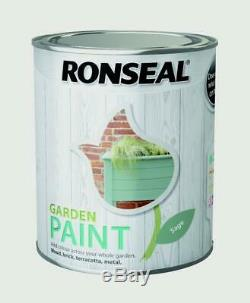 Ronseal Sage Finish Outdoor Garden Paint 750ml Ideal For Fence Wood/Brick/Metal