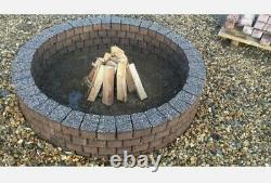 Round Fire pit granite slab fire place Garden Water Features Pond decor bricks
