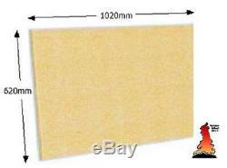 Stove Lining FIREBOARD Heat Resistant Inglenook chamber brick 1020mm x 620mm