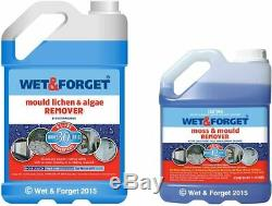 Wet and Forget Moss Mould Lichen and Algae Remover 5 Litre PLUS 2 Litre