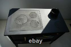 Wood Burning Cooking Stove Oven with glass PROMETEY 7 kW cast iron top NAR TYPE