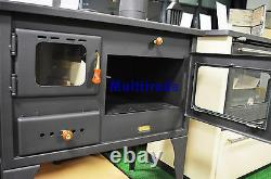 Wood Burning Cooking Stove SET OF PIPES INCLUDED 10kw heating power with Oven