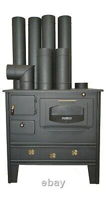 Wood burning cooking stove SET OF PIPES INCLUDED 7 kW PROMETEY NAR TYPE B