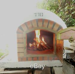 Wood fired pizza oven BRICK BREAD OVEN OUTDOOR 1100mm AMIGO OVENS