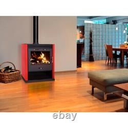Wooden Stove, Fire Rub With Feuerfesten Stones IN Interior To 21 Kw