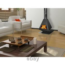 Wooden Stove, Fire Taifun With Feuerfesten Stones IN Interior To 21 Kw