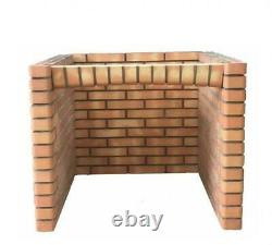 100cm Outdoor Bbq Pizza Oven Stand Red Brick For Garden, Bbq Area, Entertaining