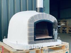 100x100co Fours À Pizza Extérieur Brick Avec Flûte Chrome Et Bouchon Inclus