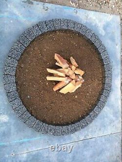 120 CM Feu Gris Foncé Dalle De Granit Feu Place Diy Garden Patio Briques Décor