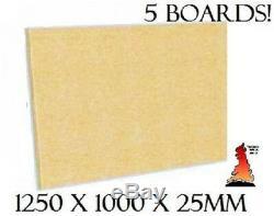5 X Fireboard Firebrick Brique Feu Plaine Conseil Vermiculite Grande 1250mm X 1000mm