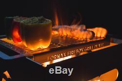6 Éléments Fornax Firebox Grill Barbecue Table De Jardin Extérieur Bbq Foyer