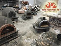 Amazing Brique Fired Jardin Extérieur Bois Four A Pizza 100x100 Noir Pierre Ardoise