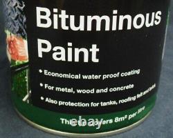Bird Brand Black Bitumen/bituminous Paint Protects Metal, Brick And Stone 1l Bird Brand Black Bitumen/bituminous Paint Protects Metal, Brick And Stone 1l Bird Brand Black Bitumen/bituminous Paint Protects Metal, Brick And Stone 1l Bird Brand