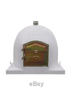 Bois Brique Extérieur Tiré Four À Pain Blanc 100cm Modèle De Luxe Wooden- Bbq-qualité