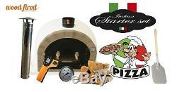 Bois Extérieur Tiré Pizza Pro Four 120cm Brique Avec Package Deal