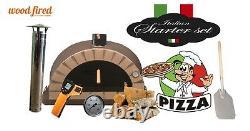 Brique À Feu De Bois Extérieur Four À Pizza 100cm Brun Pro-italien Paquet De Briques À La Crème