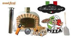 Brique Au Bois Extérieur Cuit Four À Pizza 100cm Deluxe Supplément Modèle Gris Clair Paquet