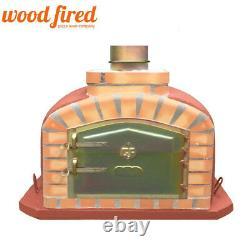 Brique Au Bois Extérieur Cuit Four À Pizza 90cm Brique Rouge Modèle Exclusif