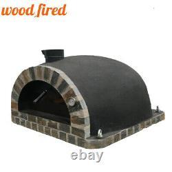 Brique Bois Extérieur Tiré Four À Pizza 100cm Arc Noir En Pierre Pro-italienne