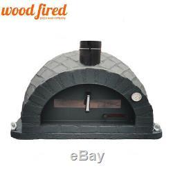Brique Bois Extérieur Tiré Four À Pizza 100cm Brique Noire Pro-italienne