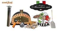 Brique Bois Extérieur Tiré Four À Pizza 100cm Modèle Italien Noir (paquet)